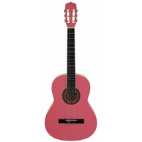 Aria Fiesta 3/4-Size Classical/Nylon String Guitar in Pink