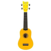 Ashton UKE100YL Soprano Ukulele Yellow in Bag