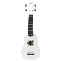 Ashton UKE100WH Soprano Ukulele White in Bag
