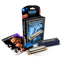 Hohner MS Series Blues Harp Harmonica in the Key of Gb