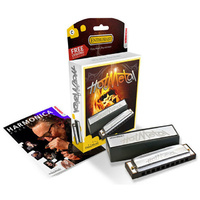 Hohner Enthusiast Series Hot Metal Harmonica in the Key of A