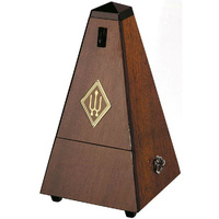 Wittner System Maelzel Series 810 Metronome in High Gloss Genuine Walnut Wooden Casing with Bell