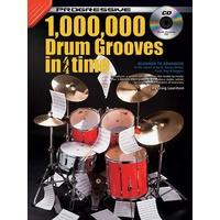 Progressive 10,000 Drum Grooves In 4/4 Time Book/CD