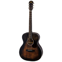 Aria Delta Players Series OM Acoustic Guitar in Muddy Brown Finish