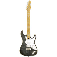 Aria 714-MK2 Series Electric Guitar in Black Diamond
