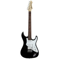 Aria 714-STD Series Electric Guitar in Black
