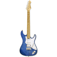 Aria 714-MK2 Series Electric Guitar in Turquoise Blue
