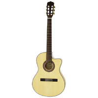 Aria A48 Series AC/EL Classical/Nylon String Thin Body Guitar with Cutaway