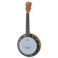 Aria AU-Series Banjo Ukulele with Remo Head & Carry Bag Genuine Banjo Resonance