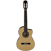 Aria AK30 Series AC/EL Classical/Nylon String Thin Body Guitar with Cutaway