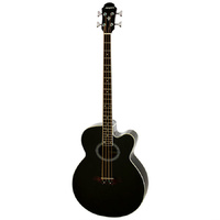 Aria Elecord Series FEB-30M AC/EL Bass Guitar in Black