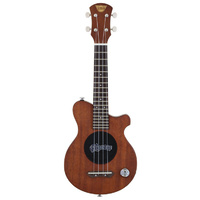 Pignose Solid Body Ukulele in Natural Matt Finish with Built-In Micro Amplifier