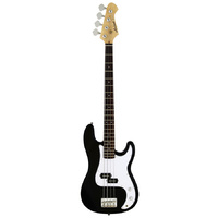 Aria STB-PB Series Electric Bass Guitar in Black