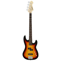 Aria STB-PJ Series Electric Bass Guitar in 3-Tone Sunburst Pickups