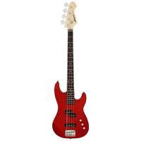 Aria STB-PJ Series Electric Bass Guitar in Candy Apple Red