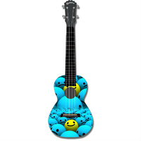 "Kealoha ""Who's Smiling Now"" Design Concert Ukulele with Black ABS Resin Body"