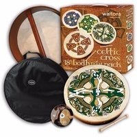 Waltons Celtic 18 Inch Bodhran Pack Includes Bag & DVD Tutor