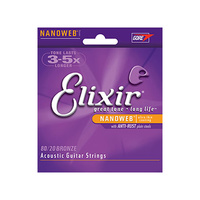 Elixir 80/20 Bronze Acoustic Guitar Strings - Choose Gauge