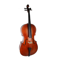 Ernst Keller CB295E Series 3/4 Size Cello Outfit in Antique Semi-Matte Finish