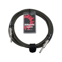 DiMarzio EP1718 Military Green Overbraided Instrument Cable (18 ft)