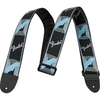"Fender 2"" Monogram Strap - Black/Grey/Blue"
