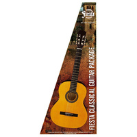 Aria Fiesta 4/4-Size Classical/Nylon String Guitar Pack in Natural