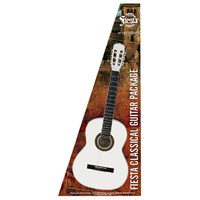 Aria Fiesta 4/4-Size Classical/Nylon String Guitar Pack in White