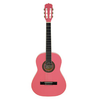 Aria Fiesta 1/2-Size Classical/Nylon String Guitar in Pink