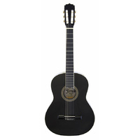 Aria Fiesta 3/4-Size Classical/Nylon String Guitar in Black