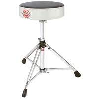 Gibraltar 6600 Series Double Braced Round Drum Throne in White Sparkle Finish