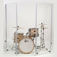 Gibraltar 5-Piece Acrylic Drum Sound Shield (5.5ft x 10ft) Isolates the Sound of your Drum Kit
