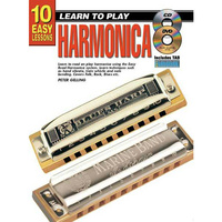 10 Easy Lessons Learn To Play Harmonica Book/CD/DVD
