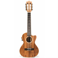 Lanikai Acacia Series 6-String AC/EL Ukulele in Natural Satin Finish with Lanikai Deluxe Gig Bag