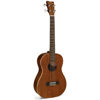 Kohala Akamai Series AC/EL Baritone Ukulele in Natural Satin Finish