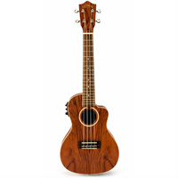 Lanikai Bubinga Series Concert AC/EL Ukulele in Natural Satin Finish with Lanikai Deluxe Gig Bag