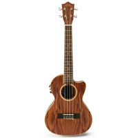 Lanikai Bubinga Series Tenor AC/EL Ukulele in Natural Satin Finish with Lanikai Deluxe Gig Bag