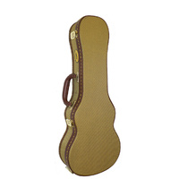 MBT Wooden Concert Ukulele Case in Tweed Fabric