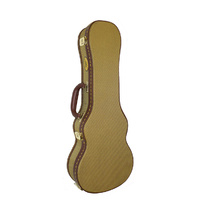 MBT Wooden Soprano Ukulele Case in Tweed Fabric