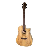 Martinez 'Mosaic' Dreadnought Cutaway Acoustic-Electric Guitar