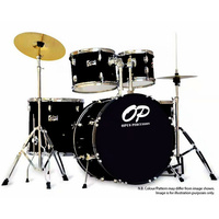 Opus Percussion 5-Piece Fusion Drum Kit in Black