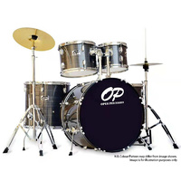 Opus Percussion 5-Piece Fusion Drum Kit in Grey Slate