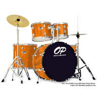 Opus Percussion 6-Piece Rock Drum Kit in Gold Sparkle