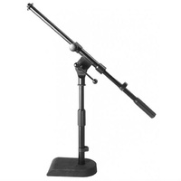 On Stage Low Profile Boom Mic Stand with Weighted Base Suitable for Kick Drum/Amplifier miking