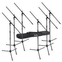 On Stage 6-Pack Microphone Boom Stands with Bag