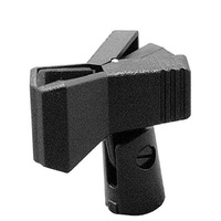 On Stage Clothespin-Style Plastic Mic Clip with Adaptor for Dynamic Mics