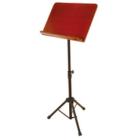 On Stage Pro Orchestral Sheet Music Stand with Rosewood Bookplate