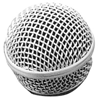 On Stage Steel Mesh Microphone Grill in Steel Grey