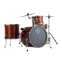Dixon Spark Series 4-Pce Drum Kit with Cymbals in Champagne Sparkle