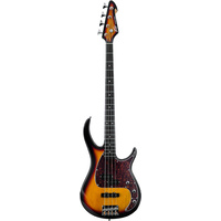 Peavey Milestone Series 4 String Bass Guitar in Vintage Burst