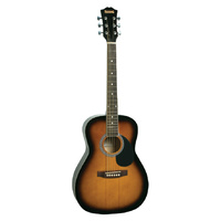 Redding RED34 Acoustic Travel Guitar - Tobacco Sunburst